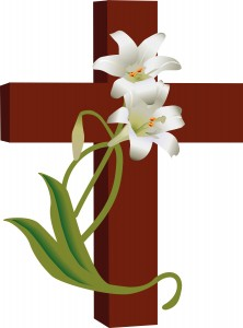 Cross with Lilies Clipart (1)